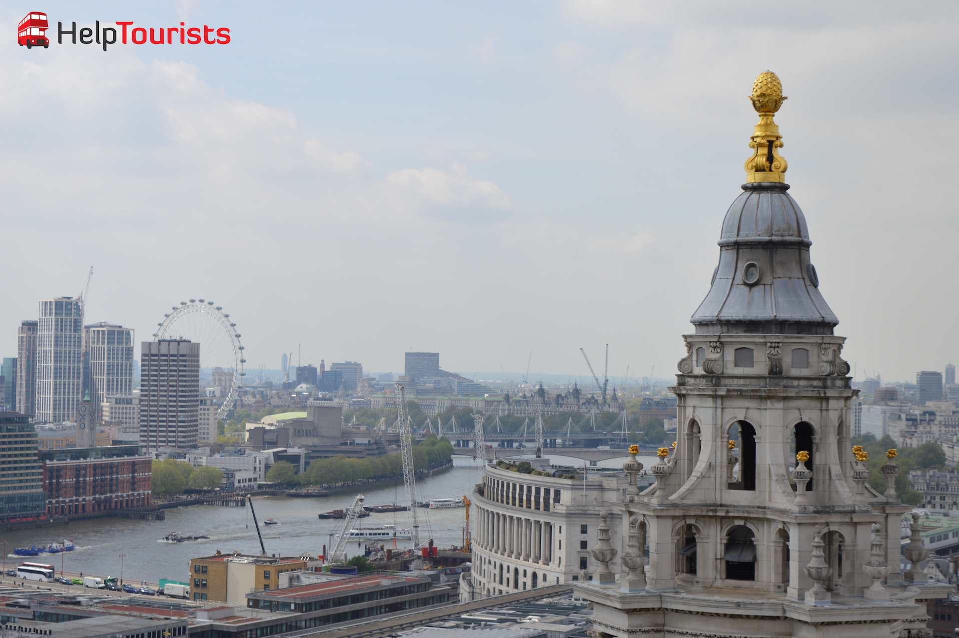 Ausblick St Paul's Cathedral auf London Eye