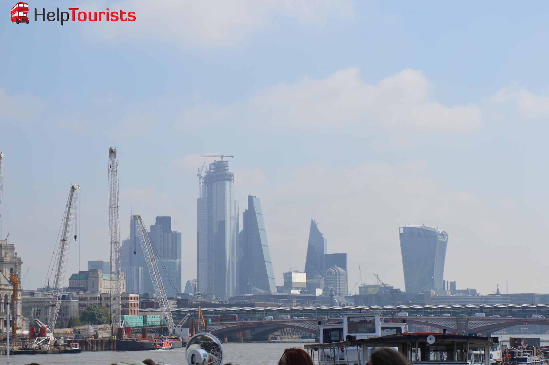 Bootsfahrt Blick auf London City