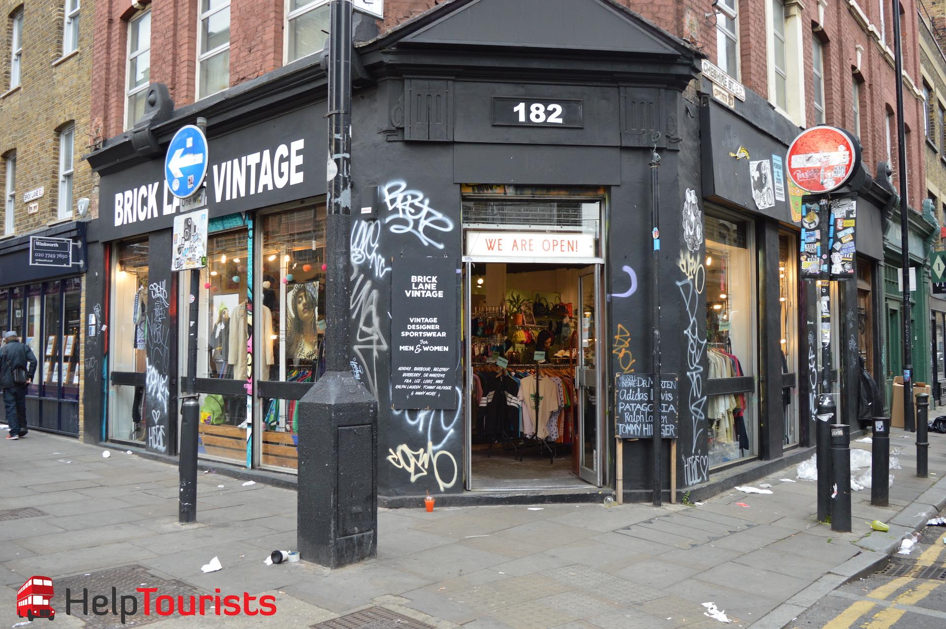 Brick Lane Vintage Geschäft London