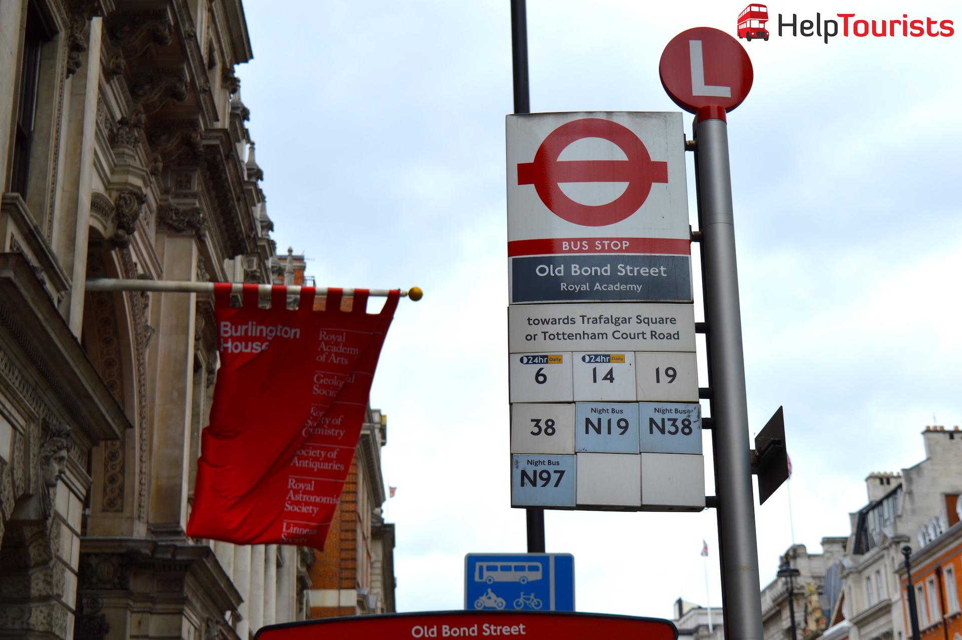 Bus Stop London Old Bond Street