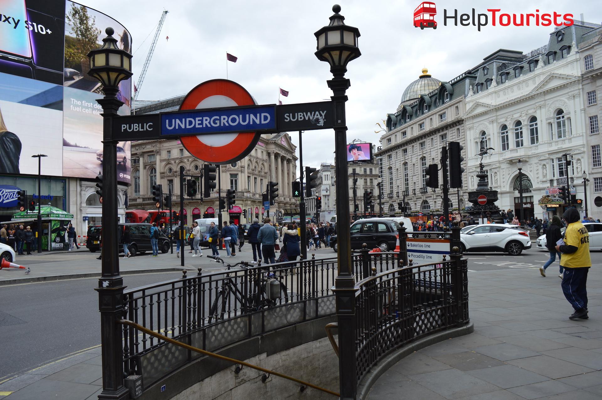 Eingang zur London Underground bei Piccadilly