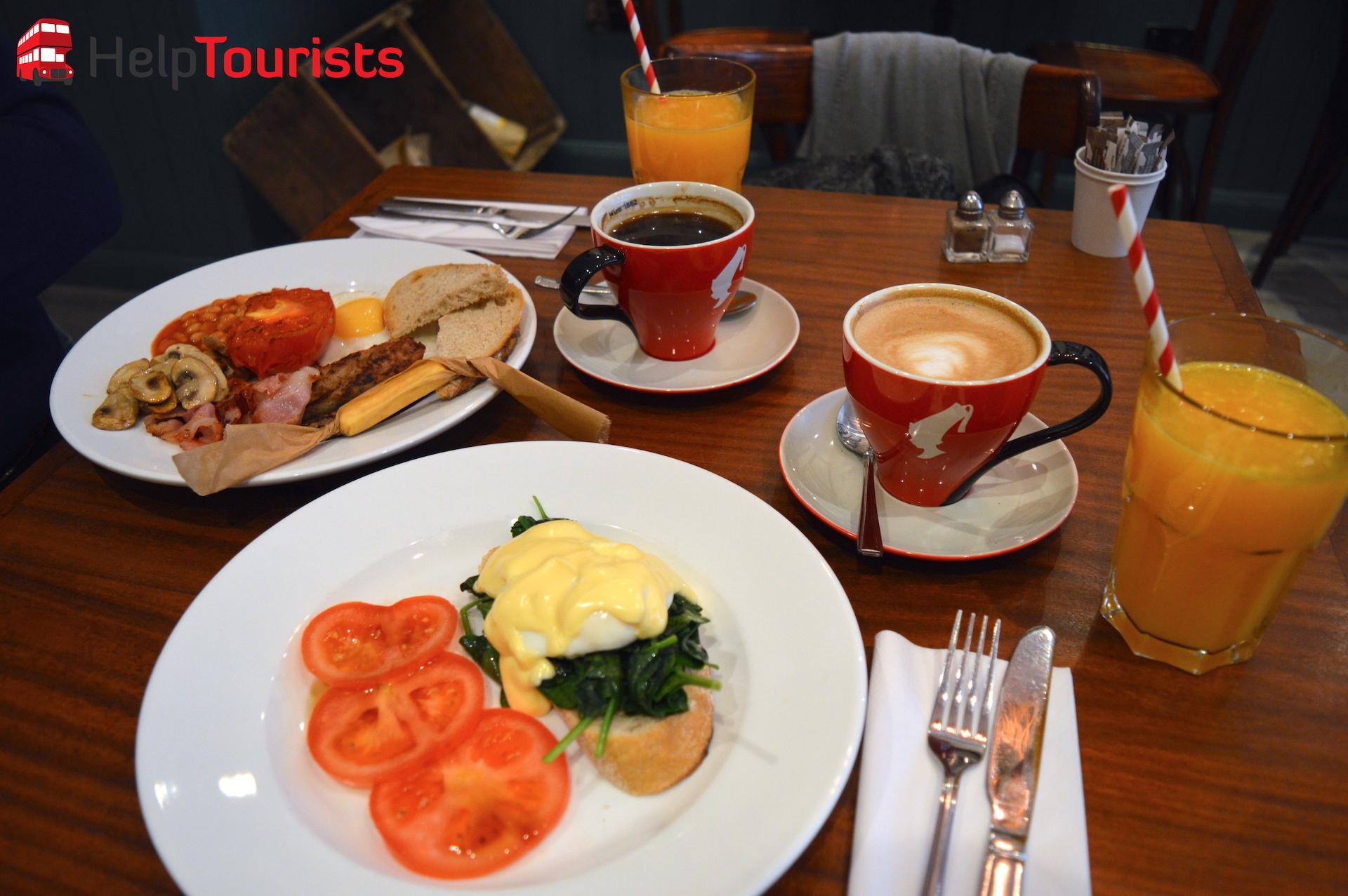 Englisches Frühstück in London Café Bite