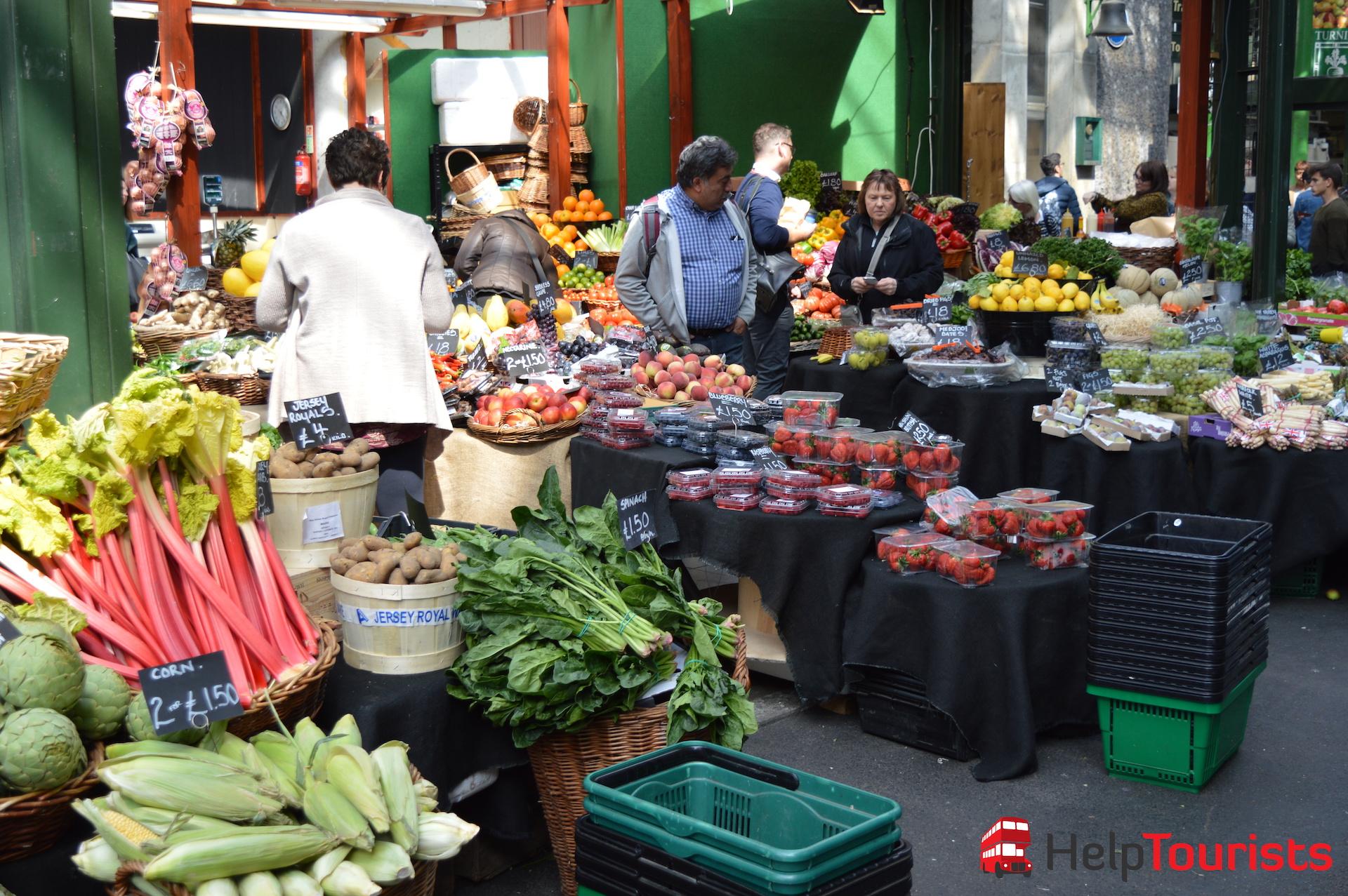 Gemüse Borough Market in London