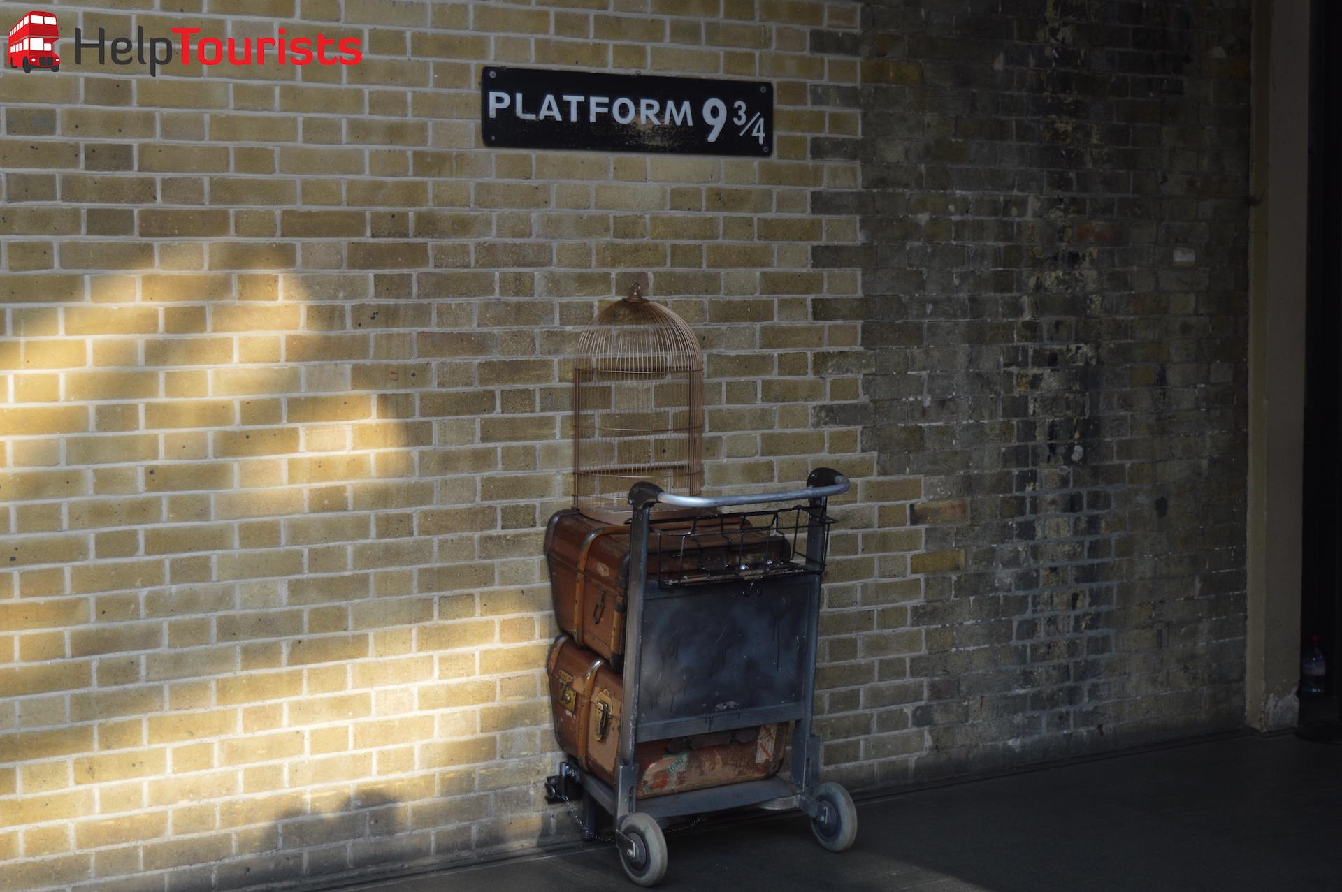 Harry Potter London Gleis 9 3:4 Bahnhof King's Cross
