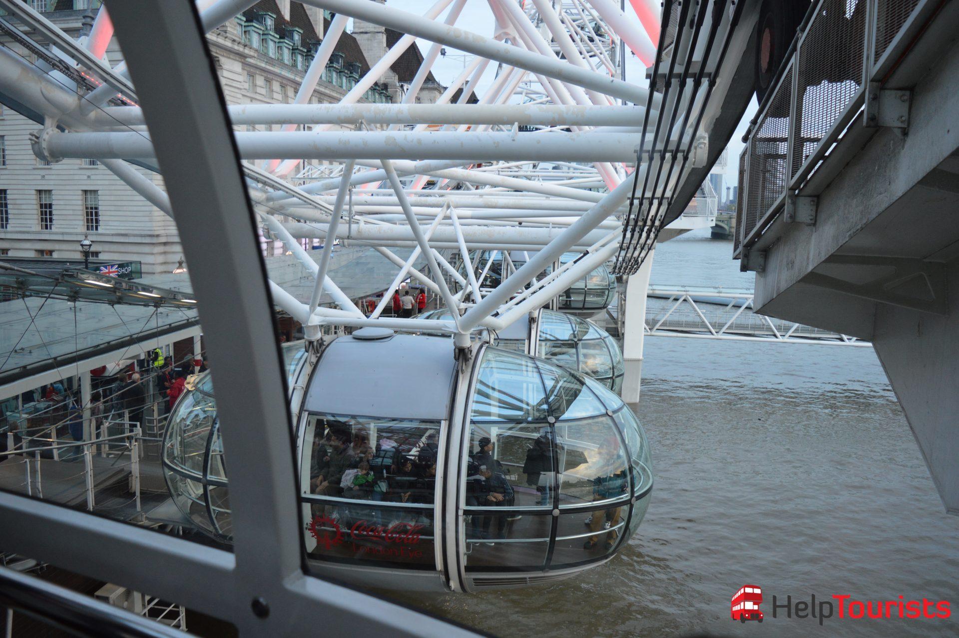 London Eye Riesenrad Gondel
