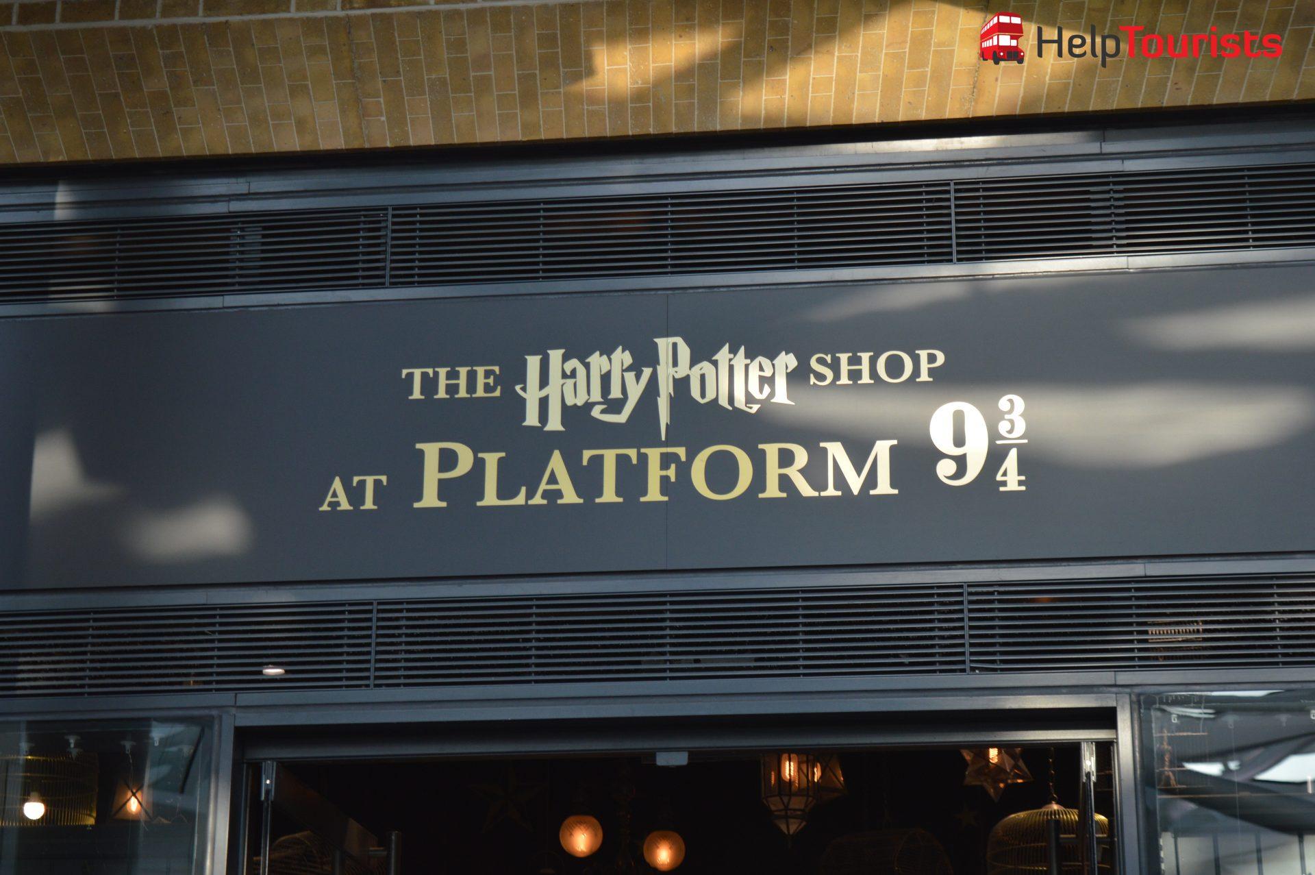 London Harry Potter Shop Bahnhof King's Cross