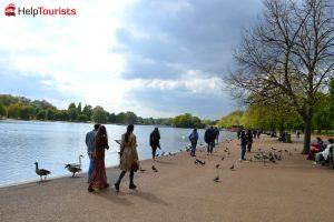 London Hyde Park großer Teich