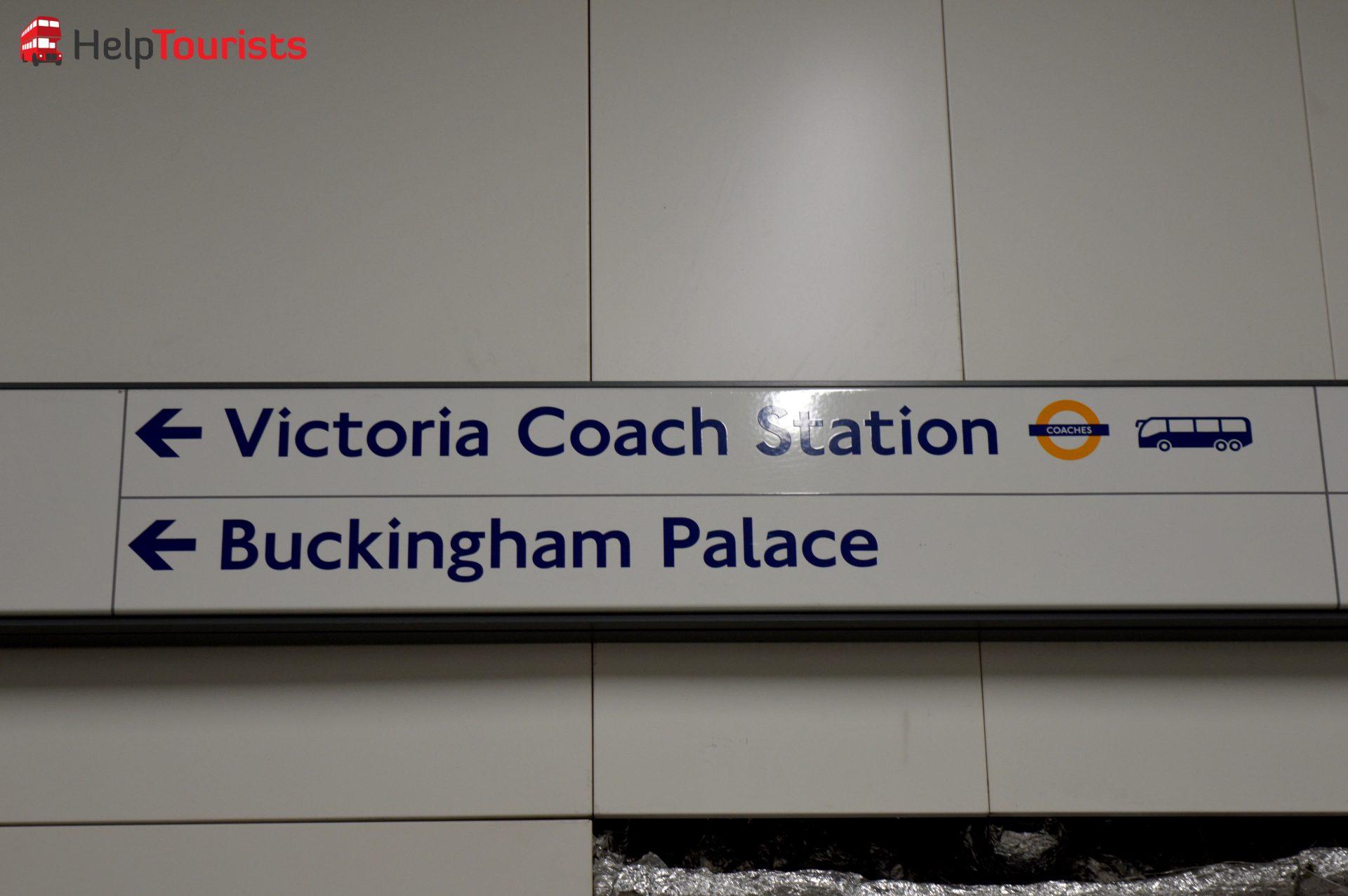 London VIctoria Station zum Buckingham Palace