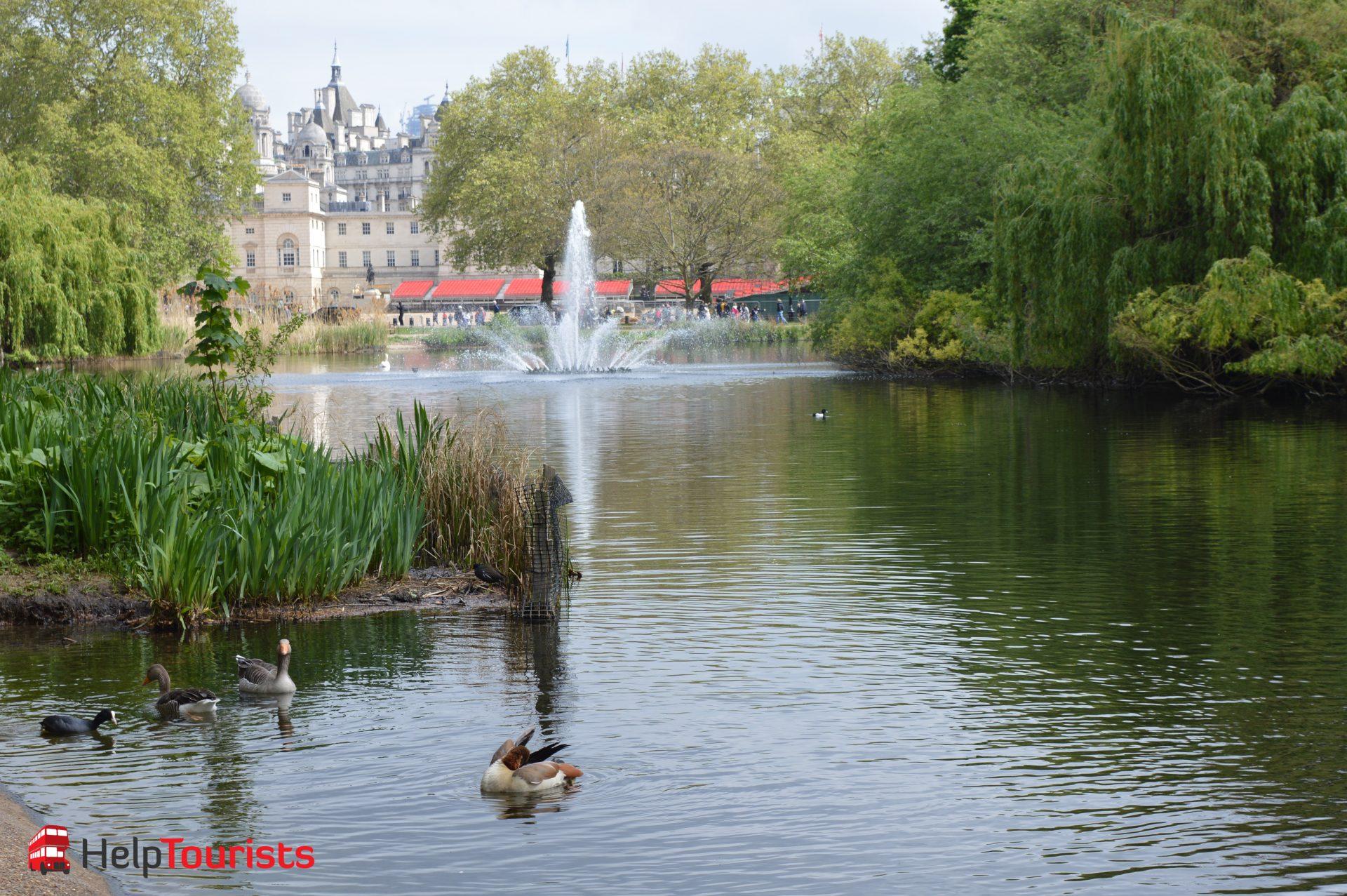 St James's Park Blick auf Banqueting House