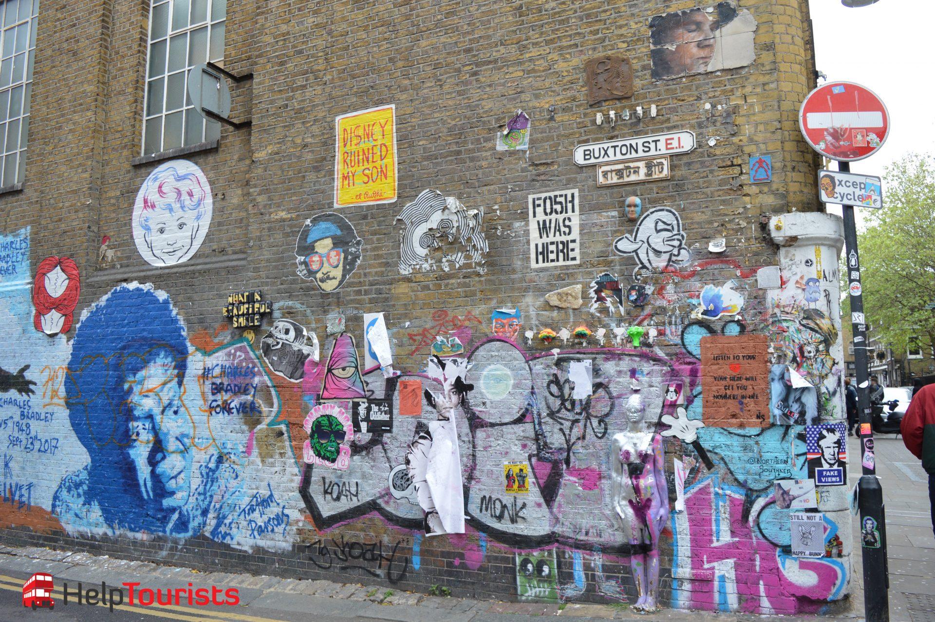 Street Art und Graffitti London Brick Lane
