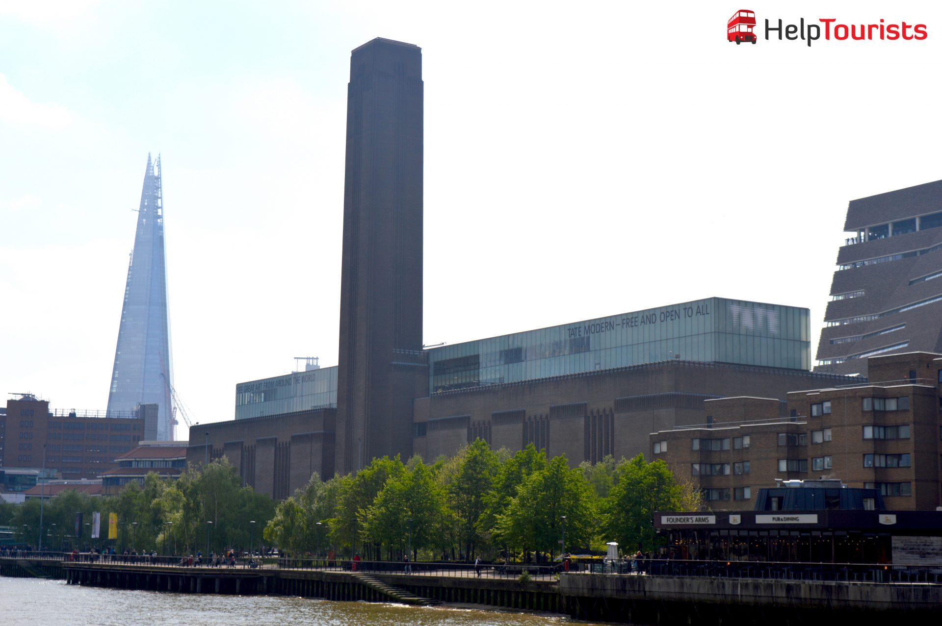 Tate Modern Museum mit Blick auf the Shard (weniger bekannte Sehenswürdigkeiten)
