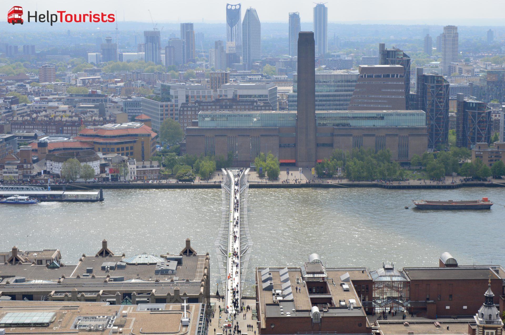 Tate Modern Museum und Millenium Bridge London