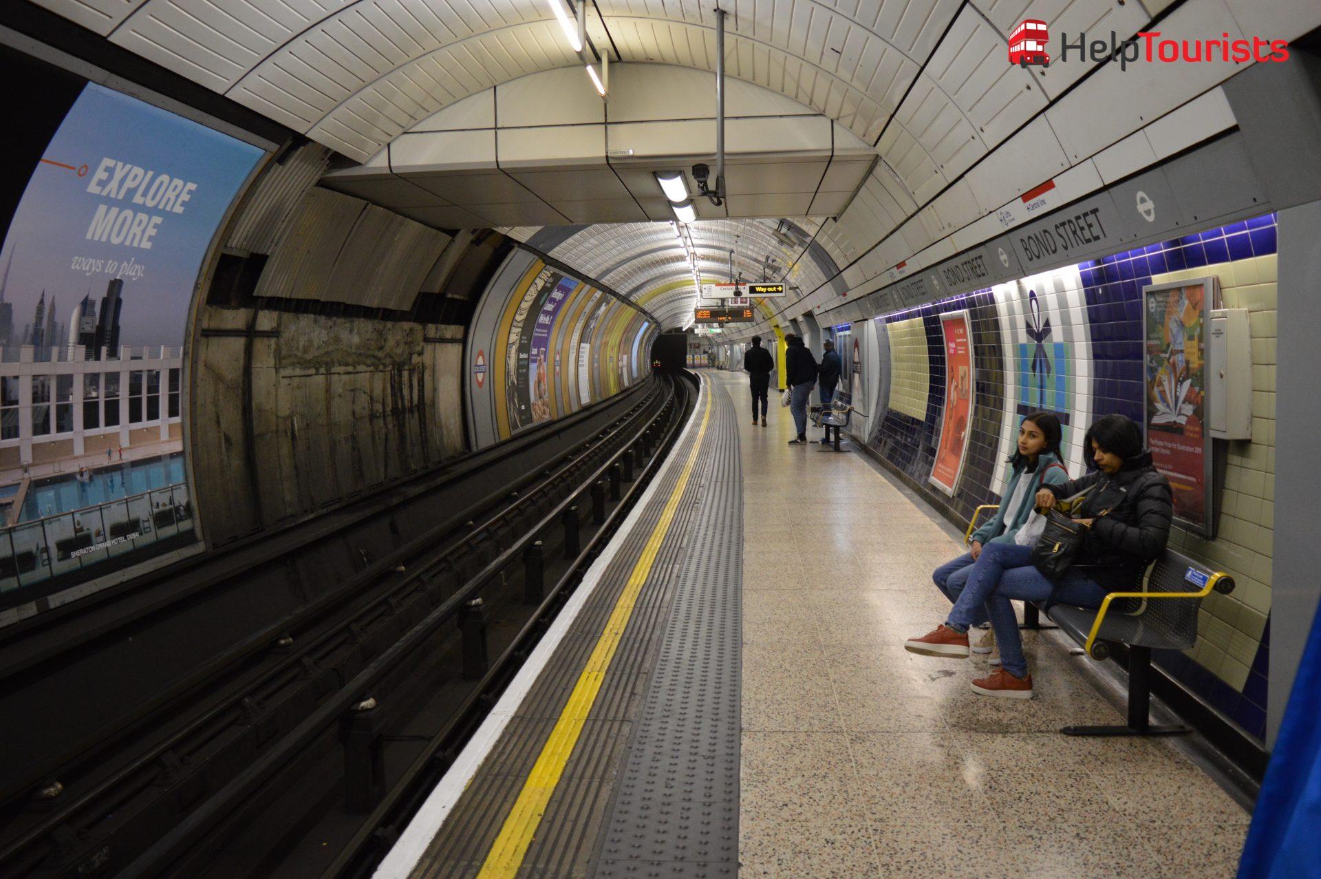 London Bahnsteig