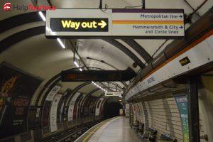 Underground London Bahnsteig