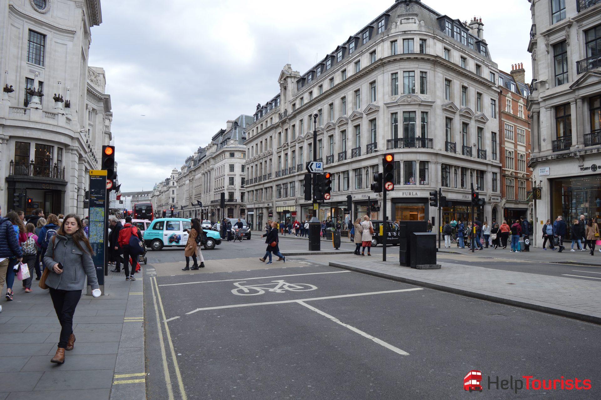shopping in Regent Street London