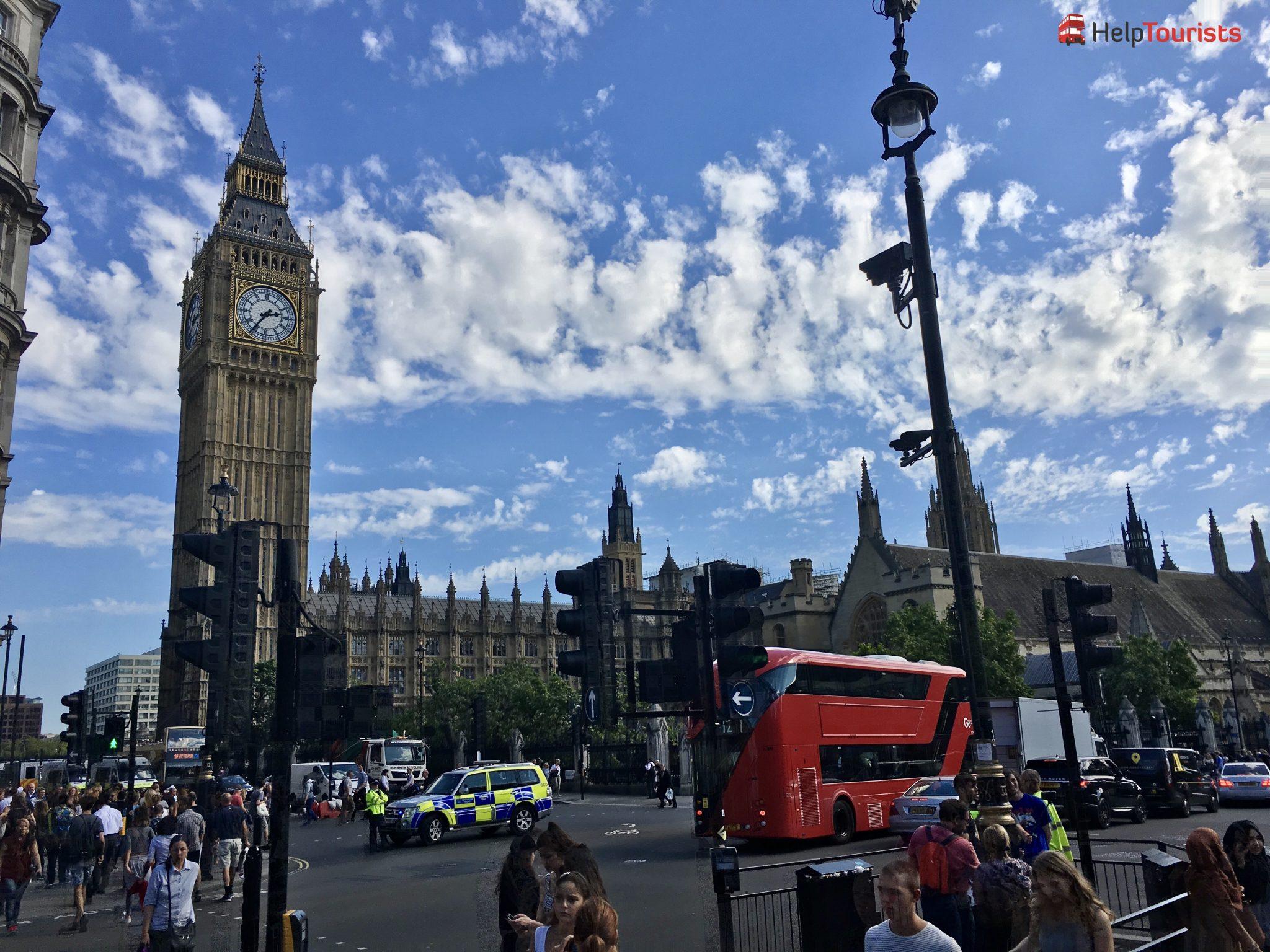 London Big Ben Seitlich