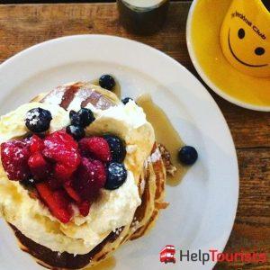 London Frühstück Breakfast club pancakes