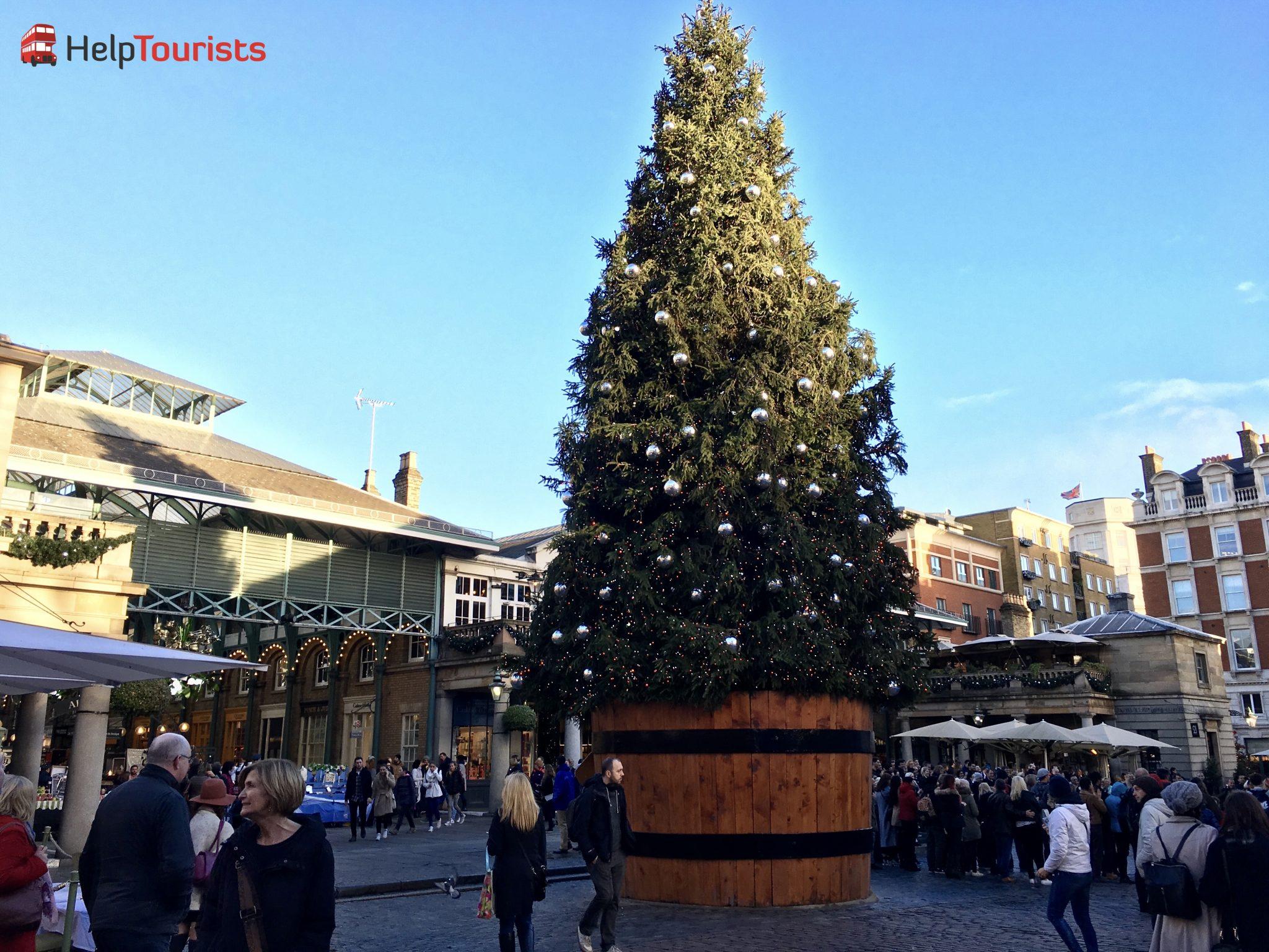 London Weihnachten Baum