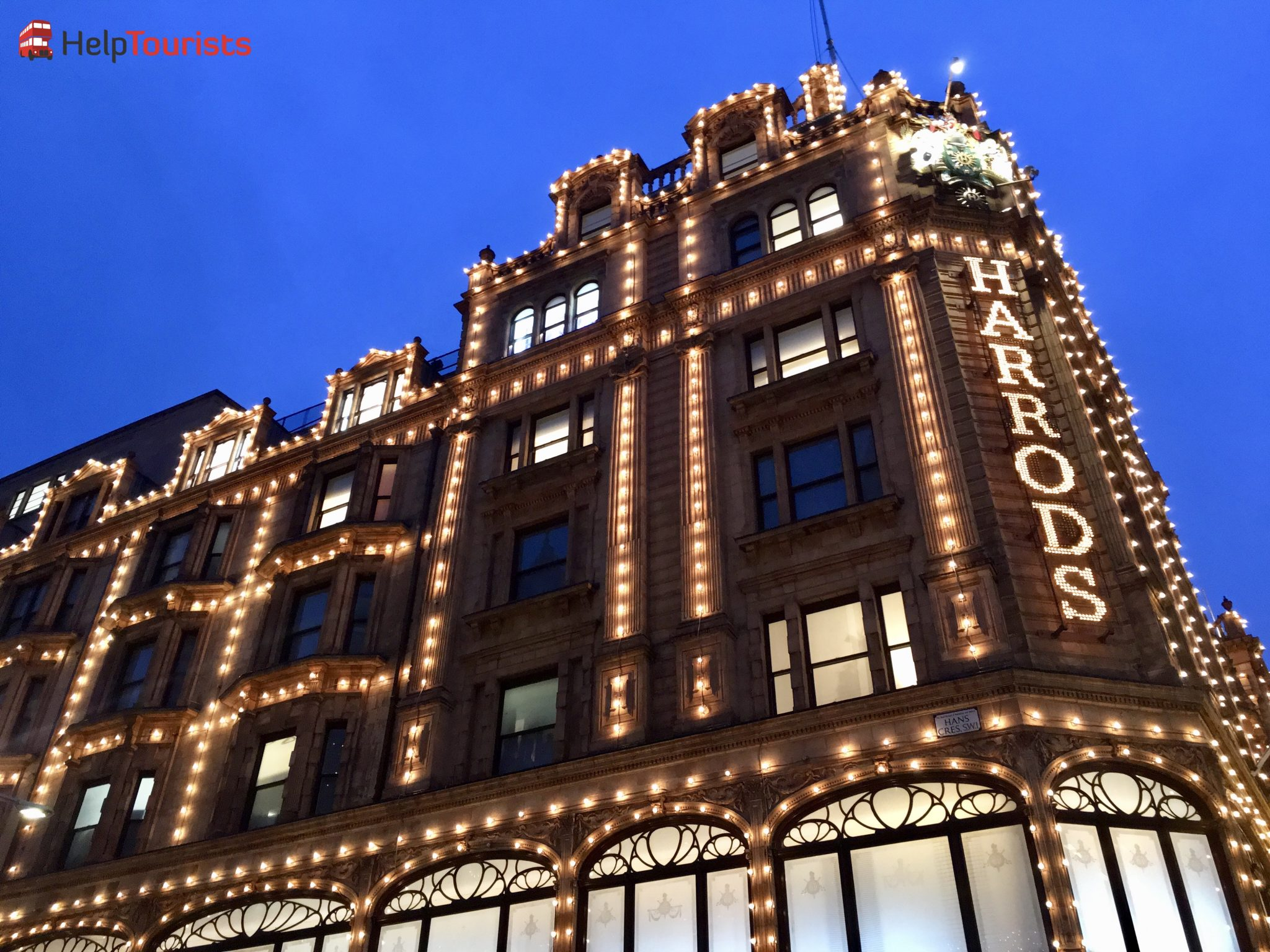 London Weihnachten Harrods